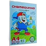 Papel A4 Chamequinho Azul 75G 210X297MM C/ 100 Fls