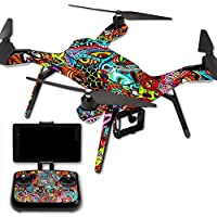 MightySkins Protective Vinyl Skin Decal for 3DR Solo Drone Quadcopter wrap cover sticker skins Acid Trippy