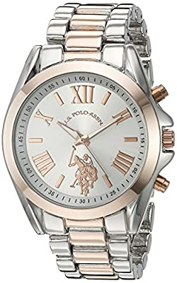 U.S. Polo Assn. Women's Quartz Metal and Alloy Casual Watch, Color:Two Tone (Model: USC40118) from Accutime Watch Corp.