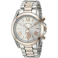 Asociación de Estados Unidos de Polo. Reloj casual de cuarzo y aleación de metal para mujer, color: dos tonos (modelo: USC40118)