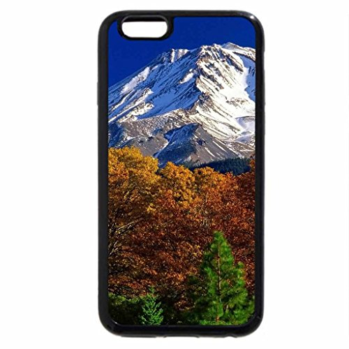 iPhone 6S Case, iPhone 6 Case (Black & White) - Mount Shasta Autumn