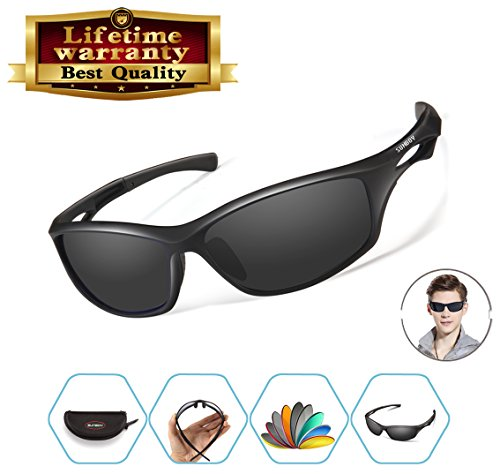 Polarized Sports Sunglasses For Men Women Cycling Running Fishing Golf Baseball Driving Sun Glasses TR 90 Durable Unbreakable Frame Review
