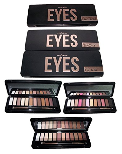 Cosmetics Profusion 12 Color Eye Shadow Palette Smokey (CosEYES Z) (Smokey)