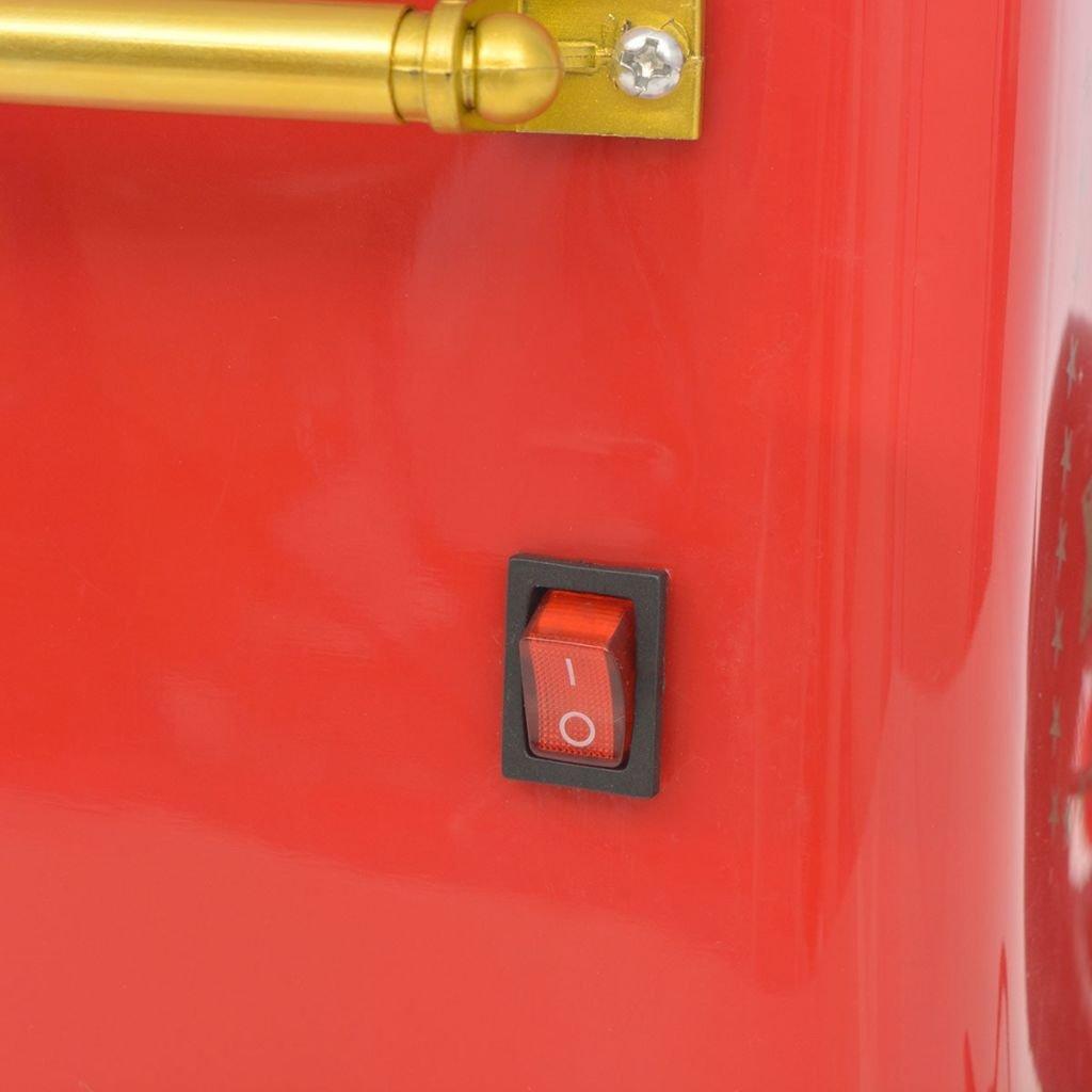 vidaXL Máquina de Algodón de Azúcar Modelo con Ruedas Potencia 480W Color Roja: Amazon.es: Hogar