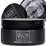 Premium Natural Dead Sea Mud Mask by L'AUTRE PEAU - Imported From Israel - 100% Natural Face and Body Mask – Minimize Pores, Oily Skin, Acne, and Blackheads - Great for Men and Women - 10.1 Ounce