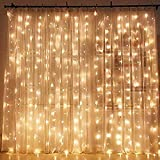 Tools & Hardware : Twinkle Star 300 LED Window Curtain String Light Wedding Party Home Garden Bedroom Outdoor Indoor Wall Decorations, Warm White