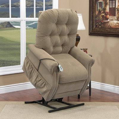- 25 Series Tall Three-Way Reclining Lift Chair Moveable Infrared Heat: No, Vibration and Heat: None, Upholstery: Aaron -Light Brown