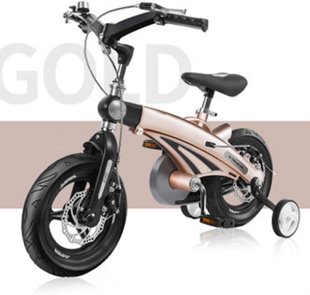 MQYZS Bicicleta Infantil para niños y niñas a Partir de 3 años   Bici 12-14-16 Pulgadas,con Frenos on sillín y manubrio Regulable