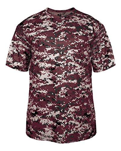 Adult 4XL Maroon Digi-Camo Moisture Wicking Jersey Uniform Shirt