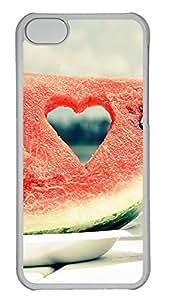 iPhone 5c Case Unique Cool iPhone 5c PC Transparent Cases Beautiful Love Watermelon Design Your Own iPhone 5c Case
