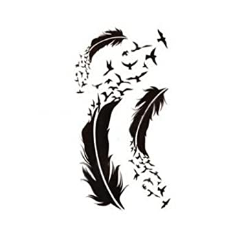 LOOKOUT- Adhesivos para tatuaje de pájaros, impermeables, diseño ...