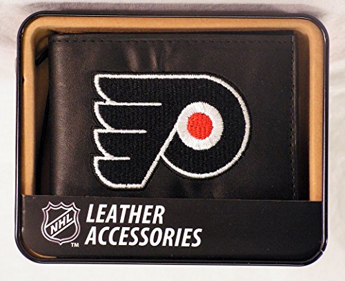 Rico Leather Philadelphia Flyers Wallet (NHL Philadelphia Flyers Embroidered Genuine Leather Billfold Wallet)