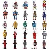 Jili Online 25 Pieces Classic Walking Robot Wind Up Toys Spaceman Clockwork Planet Alien Model Collectibles Art & Craft Supplies