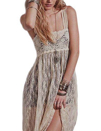 Vivilover Maxi Dresses for Women Lace Babydoll Nightwear Long Gown Lingerie Dress (XL, - Sheer Stretch Slip