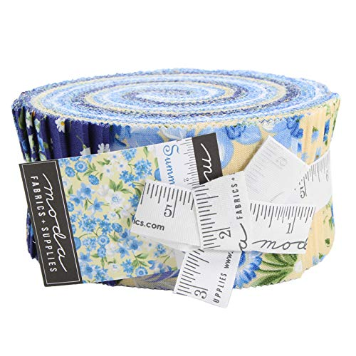 - Summer Breeze VI Jelly Roll 40 2.5-inch Strips Moda Fabrics 33370JR, Assorted