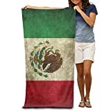 Adult Vintage Mexico Flag Absorbent Quick Dry Pool Bath Travel Beach Towel Blank Blanket Extra Large Long 80cm130cm 31.5in51.2in