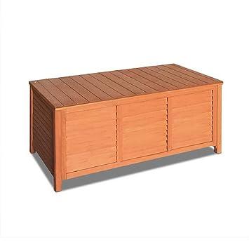 wooden outdoor garden storage bench chair box seat chest furniture