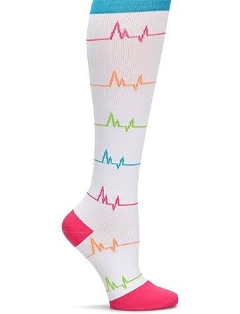 Nurse Mates EKG enfermera Mates - Calcetines de compresión, color blanco: Amazon.es: Ropa y accesorios