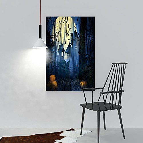 (Paintings Decorative Frameless Scary Night Halloween Backdrop Restaurant Bedroom Painting W16 x)