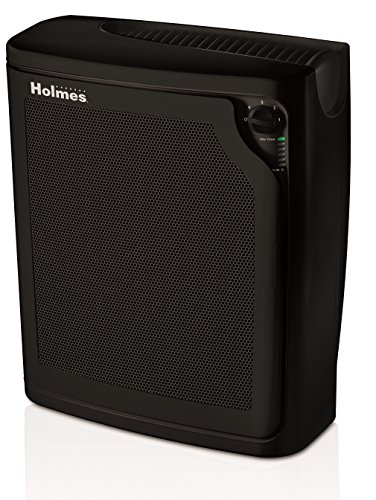 Holmes Large Room 4-Speed True HEPA Air Purifier with Quiet Operation, Black by Holmes