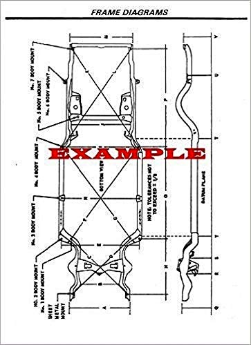 (LAMINATED FRAME DIMENSIONS DIAGRAM COMPATIBLE WITH 1977-1979 CHEVROLET CAPRICE AND IMPALA )