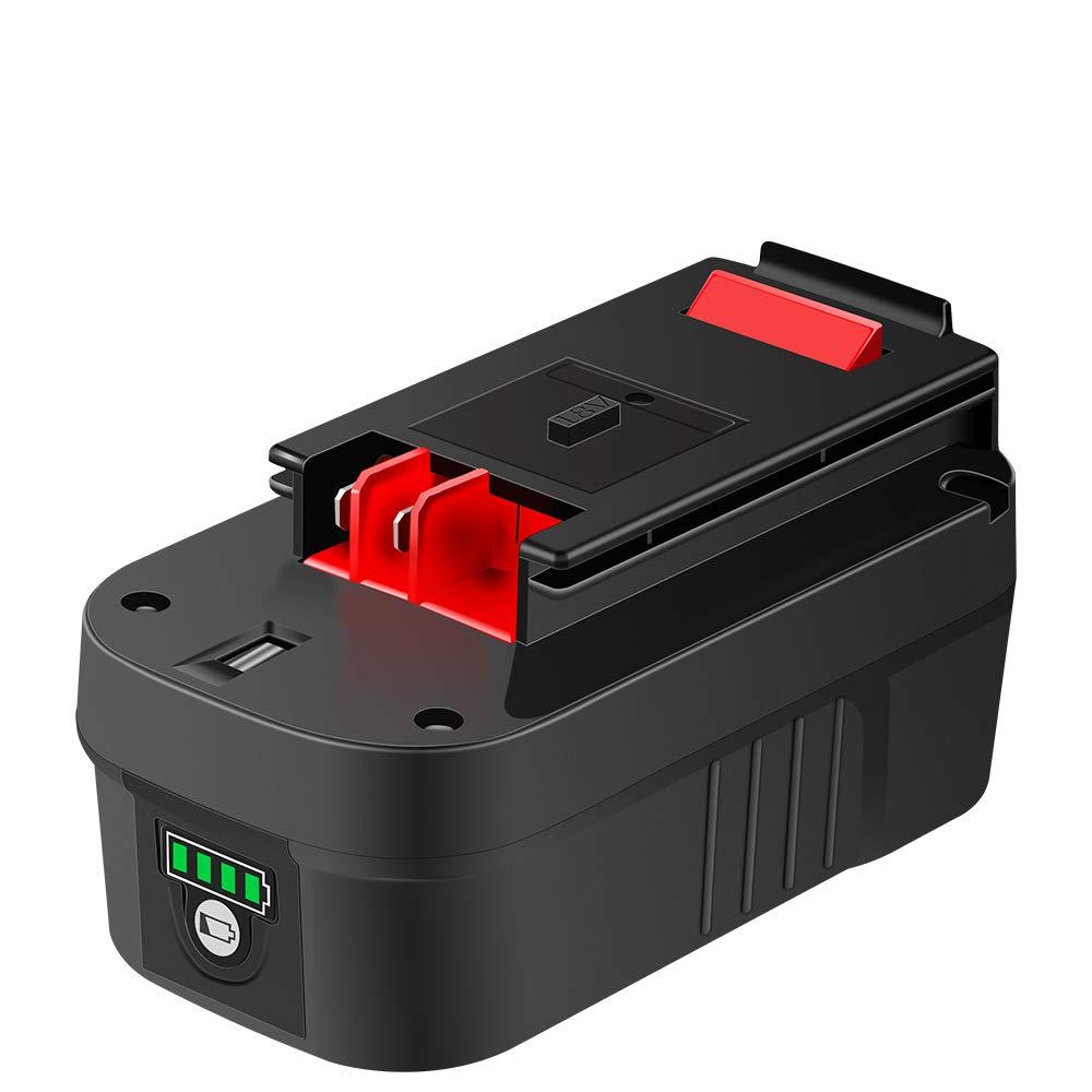 DSANKE HPB18 18Volt Lithium-ion 3000mAh Replacement Battery for Black & Decker 244760-00 HPB18 Battery A1718 A18 A18E HPB18-OPE Firestorm FS180BX FS18BX FS18FL FSB18 Black and Decker 18V Battery by Sankeup