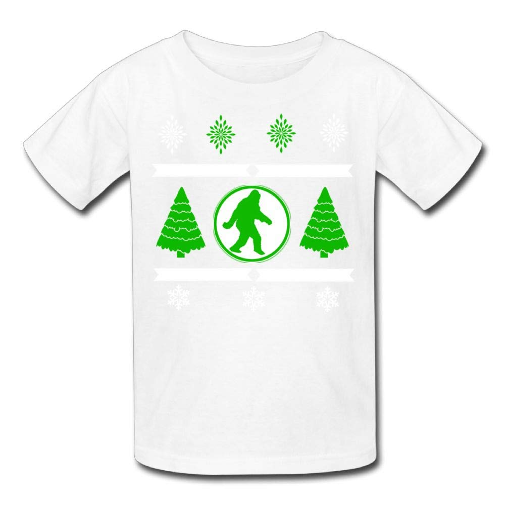Moniery Short-Sleeve Shirt Bigfoot Christmas Tree Youth Girl