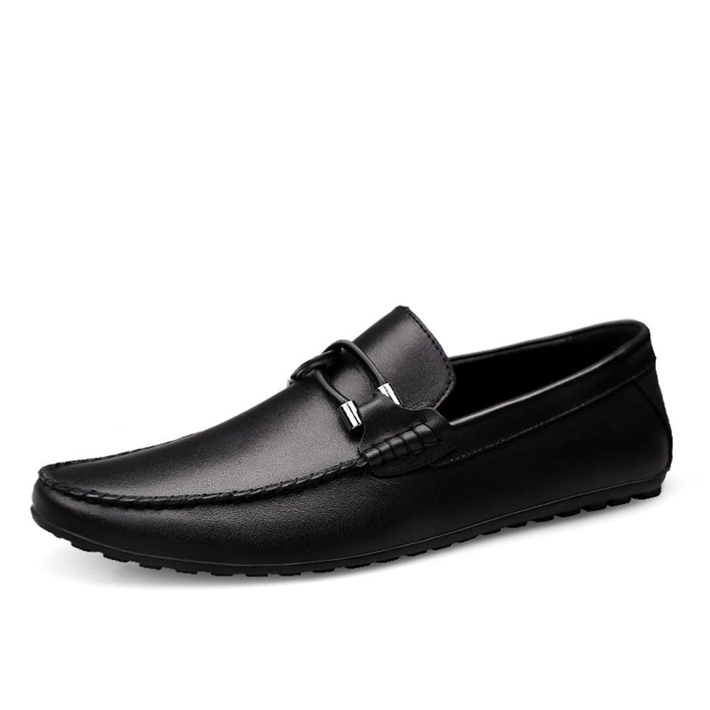 Black HYF Oxford shoes Formal shoes Driving Loafer for Men Boat Moccasins Slip On Style OX Leather Classic Embossed Texture Dress shoes
