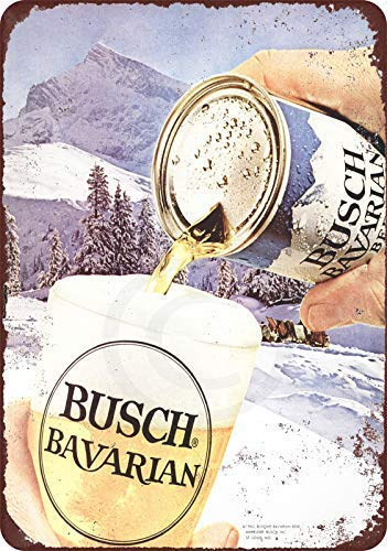 (Joeaney New Tin Sign Aluminum Retro 1962 Busch Bavarian Beer Vintage Metal Sign 8 X 12 Inch)