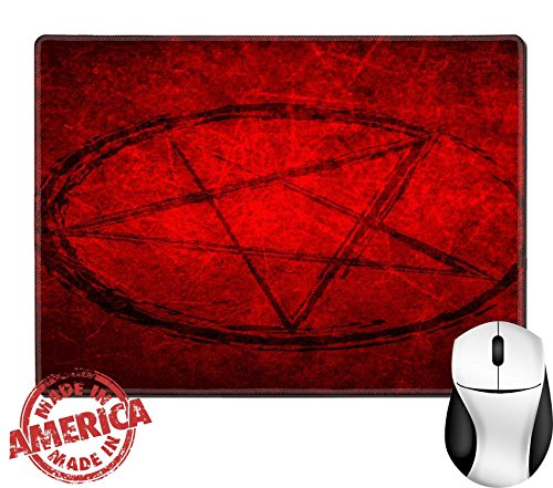 "Luxlady Natural Rubber Mouse Pad/Mat with Stitched Edges 9.8"" x 7.9"" IMAGE ID 31243034 Halloween (Haunted Forest Halloween Ideas)"