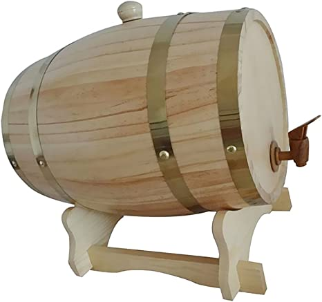 Gazechimp Barril con Grifo de Madera para Cerveza Vino Whisky Ron Keg Homebrewing Fiesta Casa de 1,5L