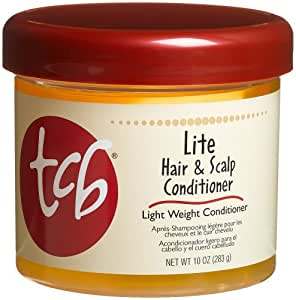 TCB Lite Hair & Scalp Conditioner, 10-Ounce Jars (Pack of 6)