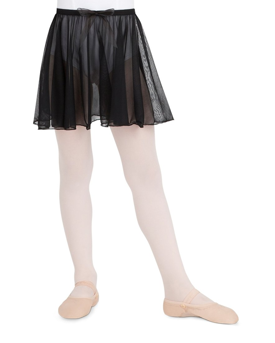 Capezio Big Girls' Children's Collection Circular Pull-On Skirt, Black, Medium