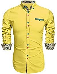 Canary yellow dress shirts