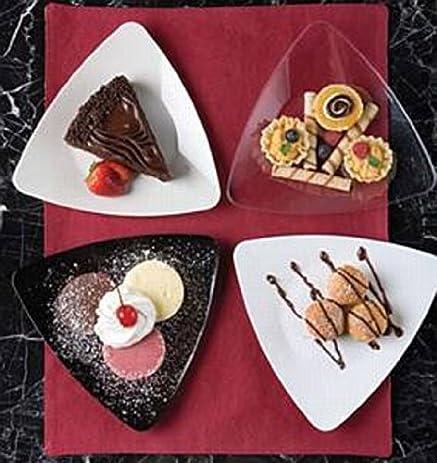 Clear Triangle Plastic 6\u0026quot; Dessert / Cake Plates ... & Amazon.com: Clear Triangle Plastic 6\