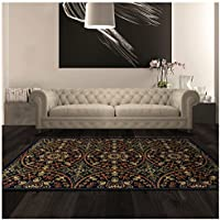 Superior Fancy Medallion Collection 27 x 8 Runner Rug, Attractive Rug with Jute Backing, Durable and Beautiful Woven Structure, Bright and Bold Geometric Mandala Pattern