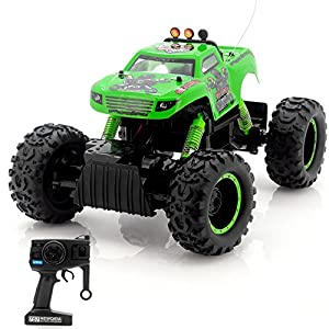 Liberty Imports R/C Rock Crawler King 1/12 Scale | All Terrain Radio Remote Control Car | 4x4 Wheel Drive Monster Truck Offroad Vehicle | RTR Batteries Included