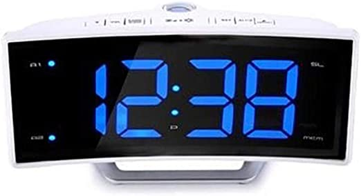 AffoOn Radio Reloj Despertador FM Led Digital Digital Mesa ...