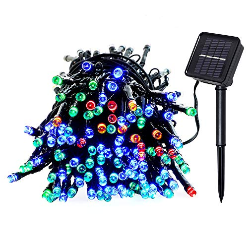 Dltnd Upgrade Solar Powered String Lights 200led 72ft 22m 8modes Waterproof Outdoor Indoor Christmas Light Wedding Holidays Party Lights For House Lawn Garden Patio Landscape Multi Color