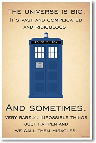Doctor Who - Tardis - The Universe Is Big - New Quote Poster