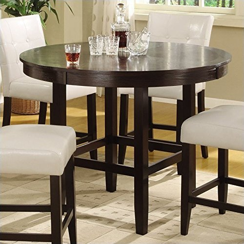 Modus Furniture 2Y2162R Bossa Round Counter Height Dining Table, 54-Inch, Dark Chocolate (Table Banquette Chairs And)