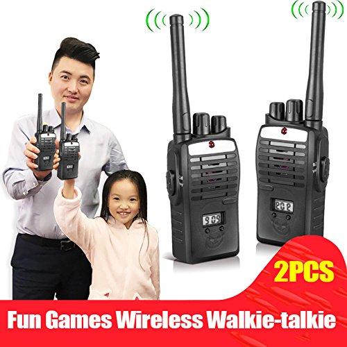 Dxlta 2pcs Electronic interphones d'oreille Jeu Talkie Walkie interphone Intercom enfants Kid Jouets