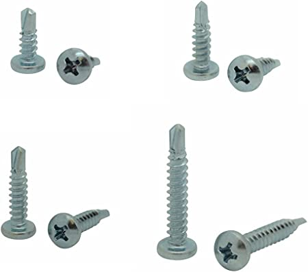 SNG80 Snug Fastener 100 Qty #10 x 1//2 Zinc Pan Head Phillips TEK Self Drilling Sheet Metal Screws