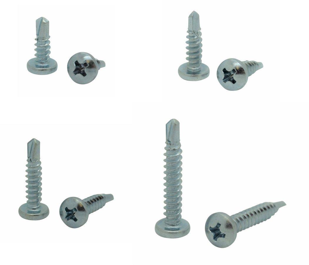 SNG113 400 Qty Assorted #10 Zinc Pan Head Phillips TEK Self Drilling Sheet Metal Screws SNUG Fasteners