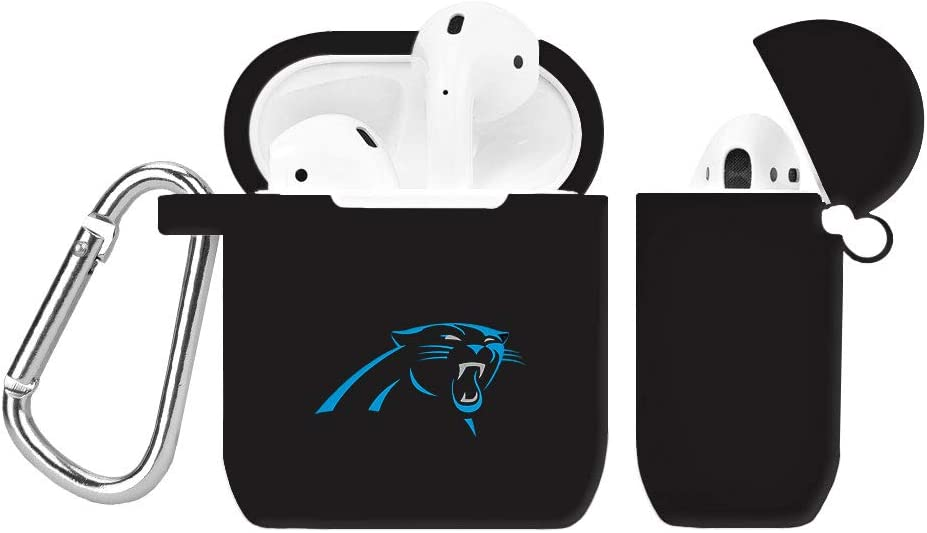 GAME TIME Carolina Panthers Silicone Case Cover Compatible with AirPod Battery Case