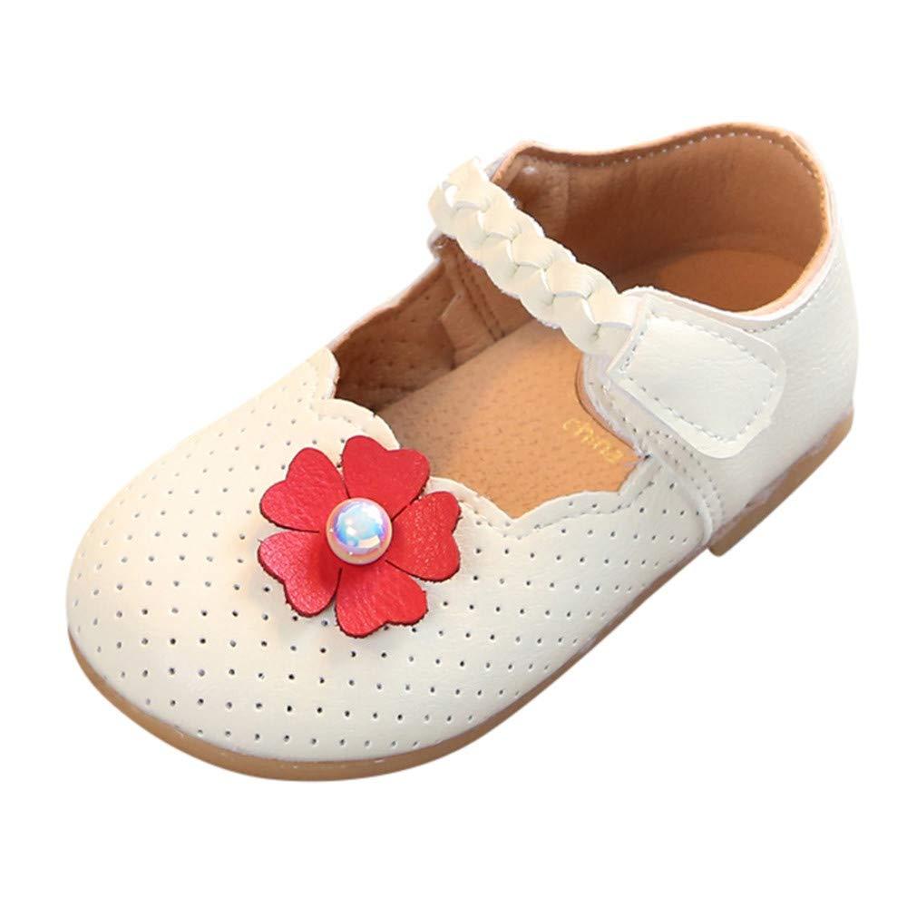 Chaussures pour Enfants, Sonnena Mignon Toddler Bébé Filles Perle Fleur Unique Chaussures Simples Sole Princesse Chaussures Sonnena Mignon Toddler Bébé Filles Perle Fleur Unique Chaussures Simples Sole Princesse Chaussures