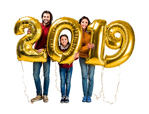 High School Graduation Party Decorations - Gold Graduation Party Supplies 2019 Balloons