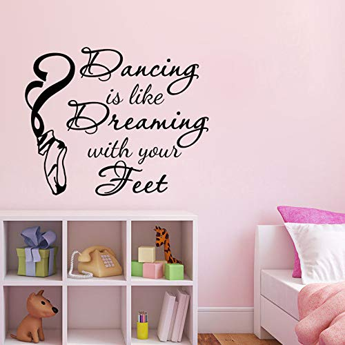 zzlfn3lv Zapatos de Ballet Pegatinas de Pared Bailar es como soñar ...