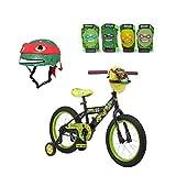 16 bike ninja turtles - Teenage Mutant Ninja Turtles 16 Inch Boy's Bike With Matching TMNT Raphael Helmet, TMNT Elbow And Knee Pads, Bundle