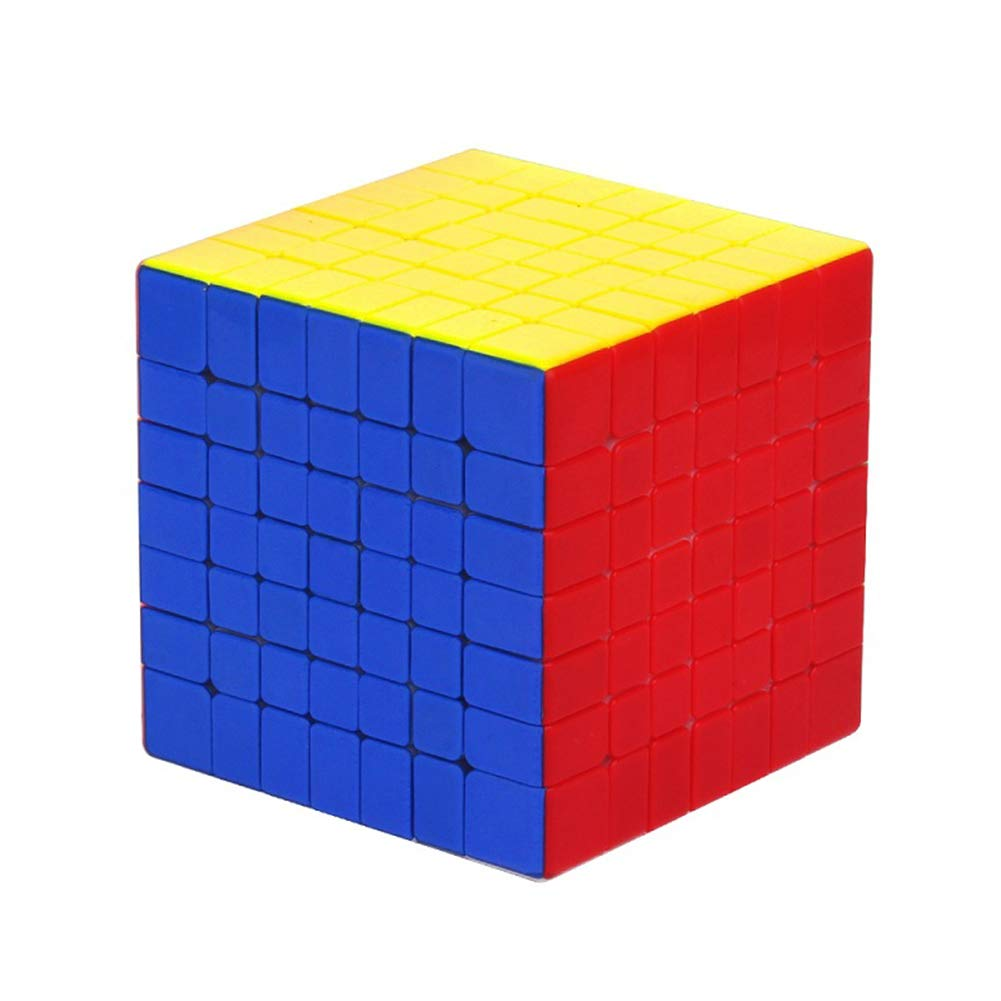 JIAAE Professional Competition Magic Cube, High Difficulty 7X7 Speed Cube, Educational Puzzle Toys for Children and Adults, Colorful